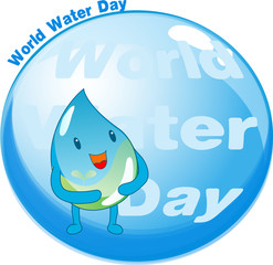 Illustration of Water day