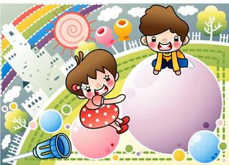 Illustration of Children's Day