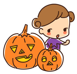 Illustration of Halloween day