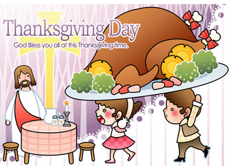Illustration of Thanksgiving Day