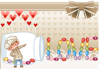 Valentine's Day and White Day, Illustration of holidays
