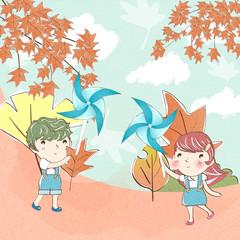 Illustration of fall