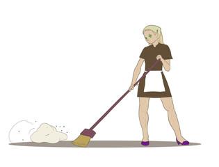 Cleaner girl