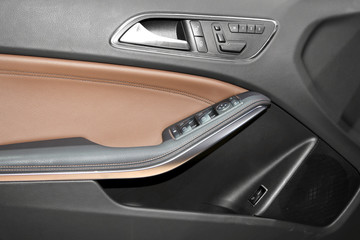 Luxury car door interior trim