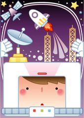 Illustration of space flight
