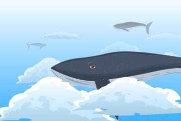baleias nadando no céu (whales swimming in the sky )