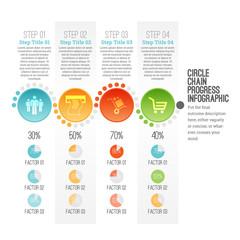 Circle Chain Progress Infographic