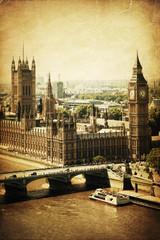 Fototapete - nostalgische Stadtansicht von London