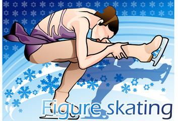 Illustration of skating