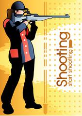 Illustration of shooting