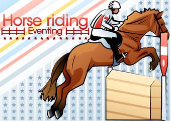 Illustration of riding