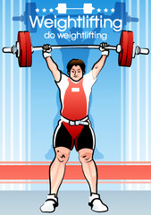 Illustration of weightlifting
