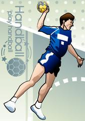 Illustration of handball