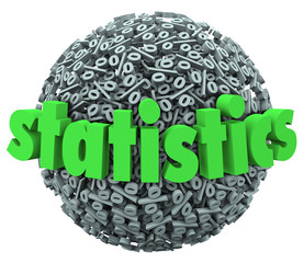 Statistics Word Percentage Sign Sphere Ball Stats