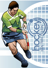 Illustration of hockey
