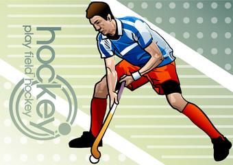 Illustration of hockey