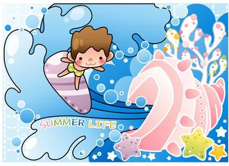 Illustration of summer