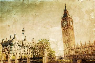 Fotomurales - nostalgisch texturiertes Bild mit dem berühmten Big Ben