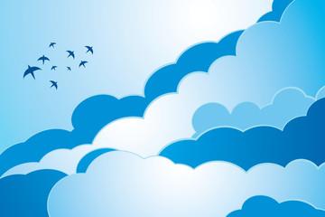 Vektör Manzara Gökyüzü Bulut