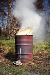 Barrel fire portrait format