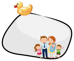 An empty template with a family and a rubber duck