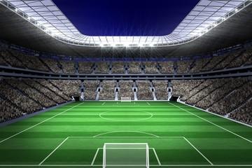 Obraz Large football stadium with lights - fototapety do salonu