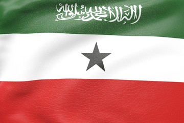somaliland leather textured flag