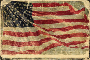 American Flag Grunge Style