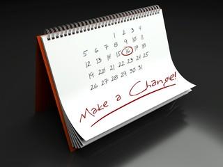 Make a change important day, calendar concept