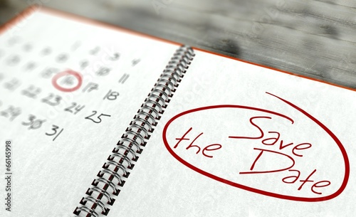 """""""Save The Date Important Day, Calendar Concept"""" Stockfotos"""