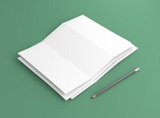 Briefpapier Stapel mit Bleistift