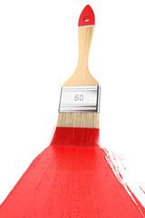 Strip paint brush painted