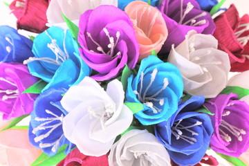 colorful paper crocus flowers