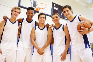 Members Of Male High School Basketball Team