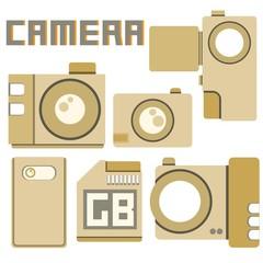 camera icons, cardboard theme