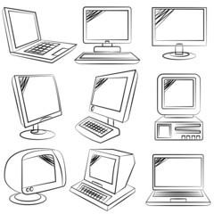 sketch computer set