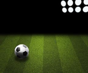 Football Field Spotlight Background