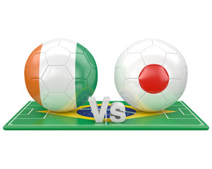 Match du groupe C , coupe du monde 2014