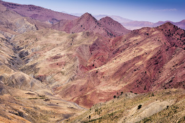 The Tizi n Tichka pass is one of several high altitude roads acr