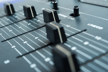 buttons equipment sound mixer control