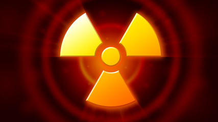 Radioactive danger symbol