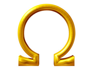 Omega sign in gold