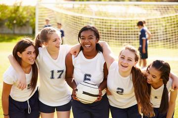 Members Of Female High School Soccer Team