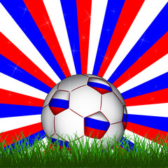 Russian soccer ball, vector