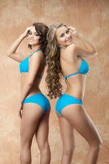 Two women in bikini
