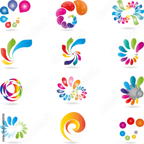 Logo spirale welle schn rkel stockfotos und for Painting and decorating logo ideas