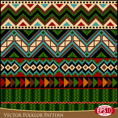 Vector Folklor Pattern A
