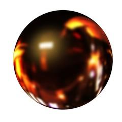 Black fire ball 3d render