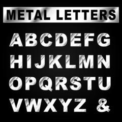 Vector metal set letters