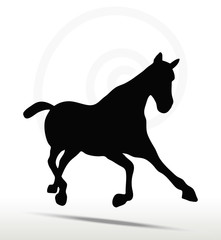 horse silhouette in Fast Trot position